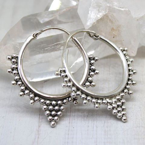 925 Silver 'Vijal' Hoop Earrings