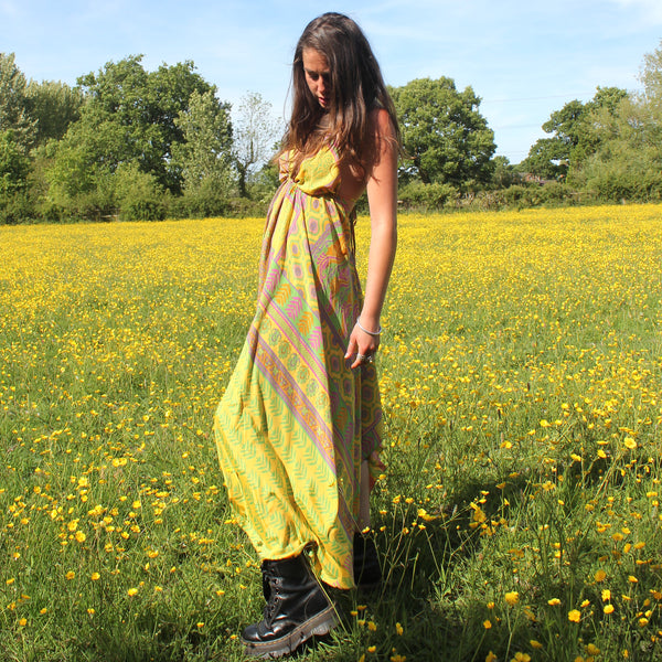 Recycled Indian Sari 'Abha' Dress