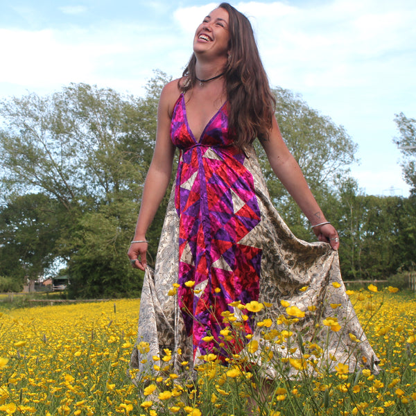 Recycled Indian Sari 'Kalika' Dress