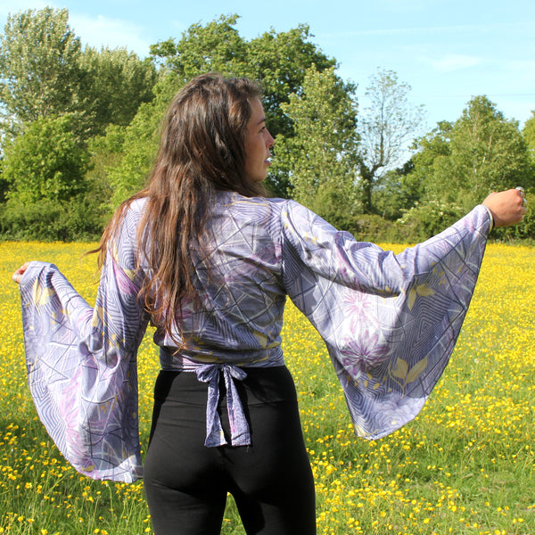 Recycled Indian Sari 'Iya' Butterfly Wing Wrap Top