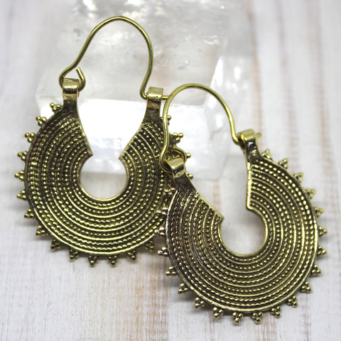 Handmade Brass 'Avi' Earrings