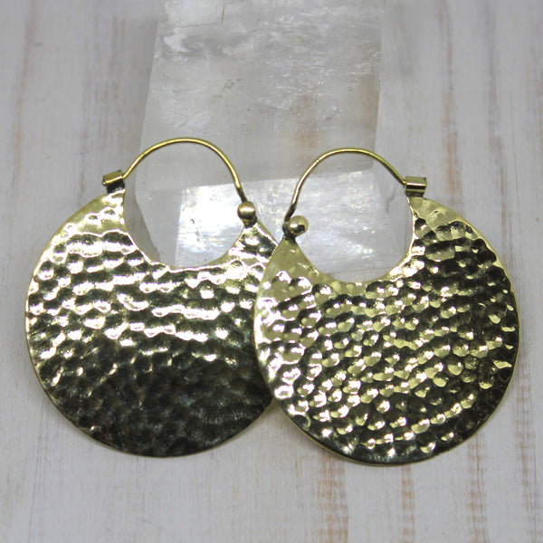Handmade Brass 'Sourya' Earrings