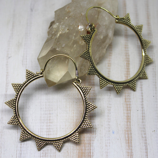 Handmade Brass 'Vihana' Earrings
