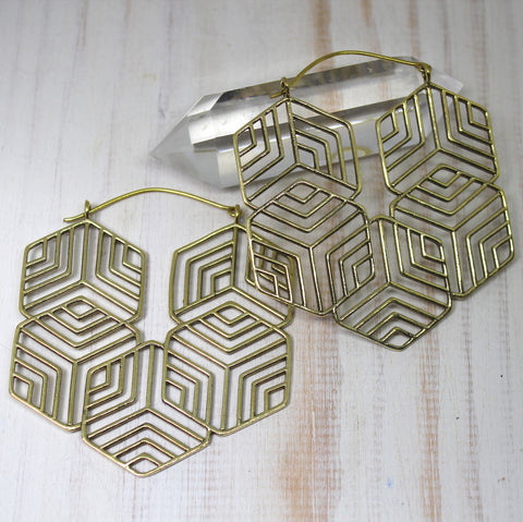 Handmade Brass 'Indali' Earrings