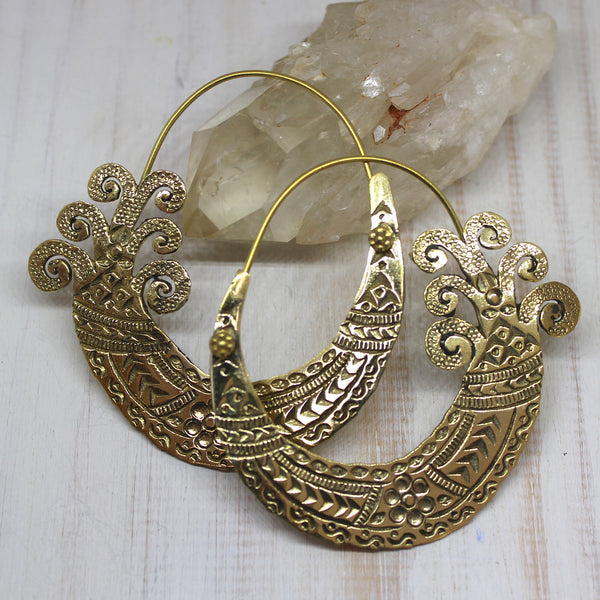 Handmade Brass 'Kamya' Earrings