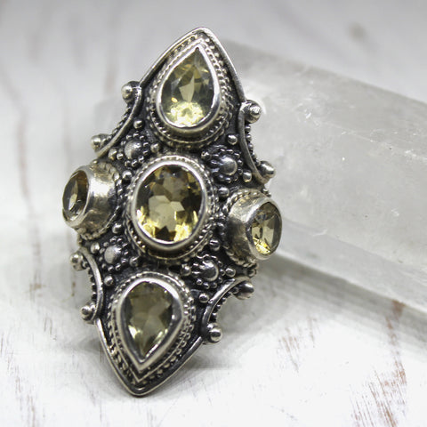 925 silver and Citrine 'Abundance' Ring