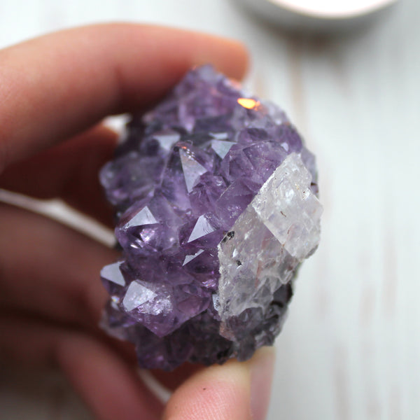 Deep Purple Uruguayan Amethyst with Calcite