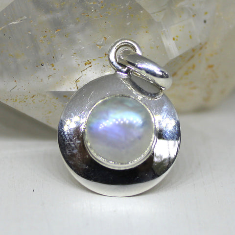 Full Moon 925 Silver and Moonstone Pendant