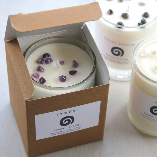 Essential Oil & Soy Wax Recycled Glass 20cl Candle.