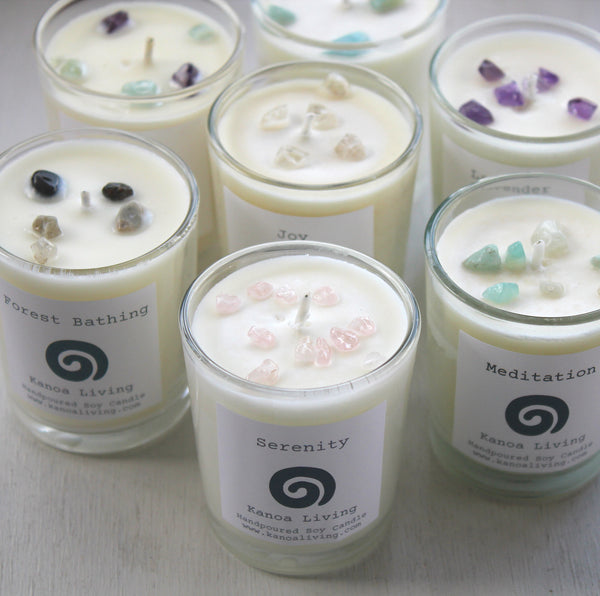 Essential Oil & Soy wax Recycled Glass 9cl Votive Candle