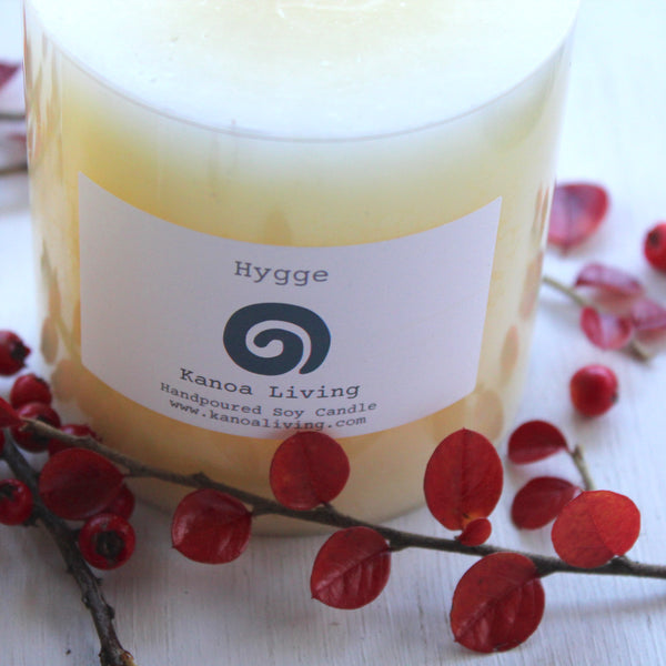 Essential Oil & Natural Vegetable Wax 'Hygge' Pillar Candles