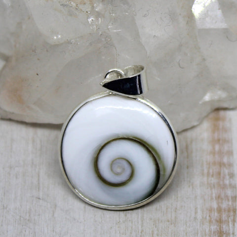 Shiva's Eye and 925 Silver Pendant