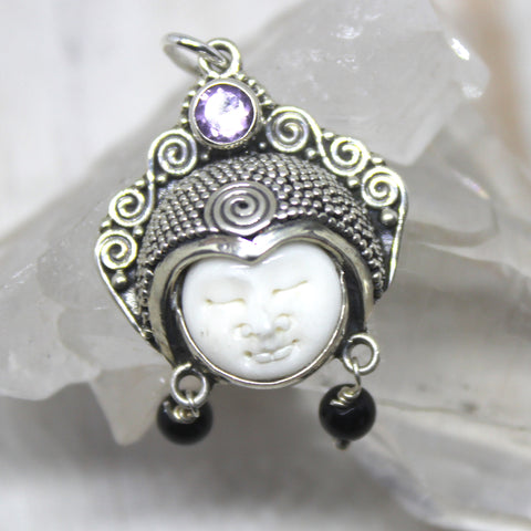Products 925 Sterling Silver and Amethyst Goddess Pendant