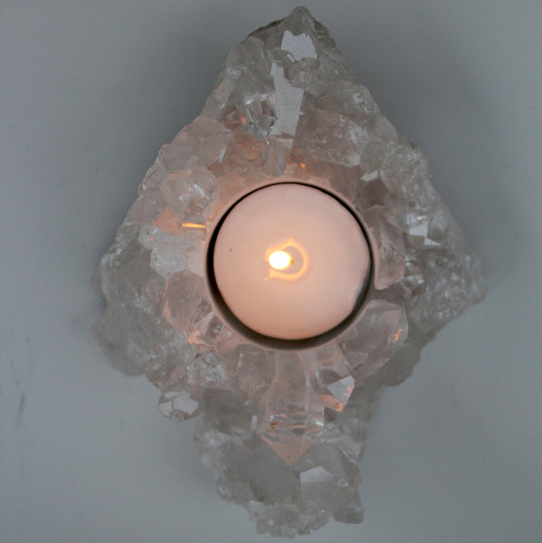 Crystal Cluster Tea Light Candle Holder