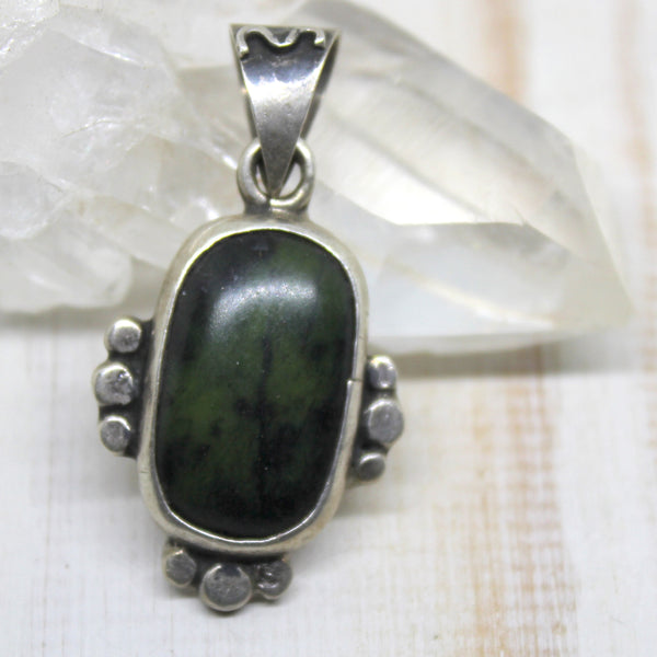 Handcrafted Mexican Jade Pendant