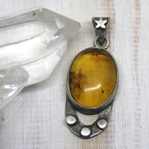 Handcrafted Mexican Amber Pendant