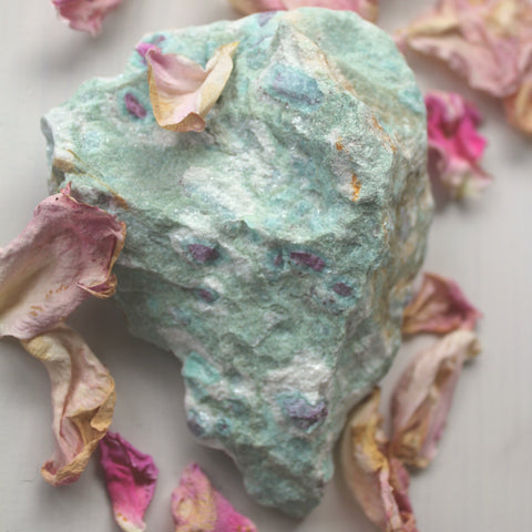 Ruby in Fuchsite Chunk