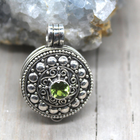 Sterling Silver Peridot Locket