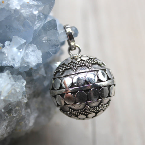 Sterling Silver Geometric Harmony Ball