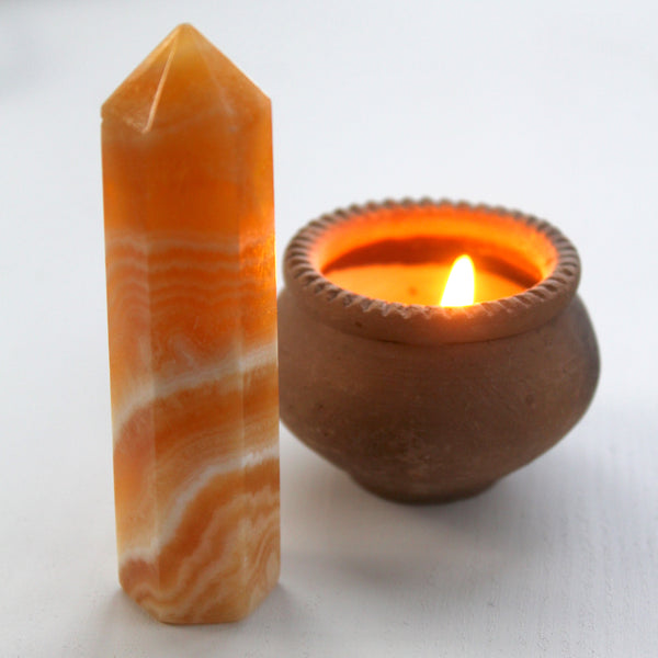 Orange Calcite Point