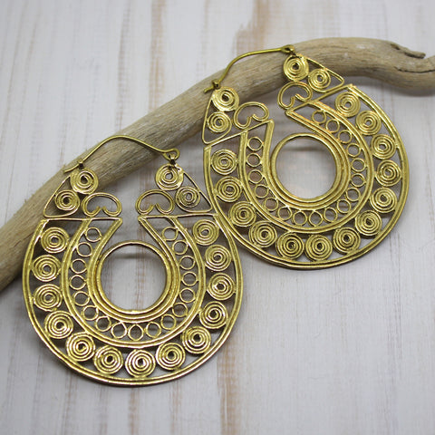 Handmade Brass 'Saisha' Earrings
