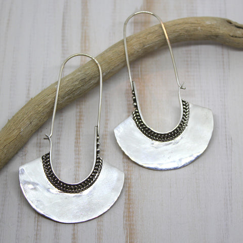 Handmade 925 Silver 'Adishakti' Earrings