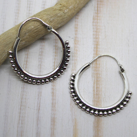 Handmade Sterling Silver 'Bandita' Earrings from Rajasthan