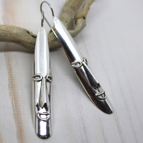 Handmade Sterling Silver 'Aashi' Earrings from Rajasthan, India.