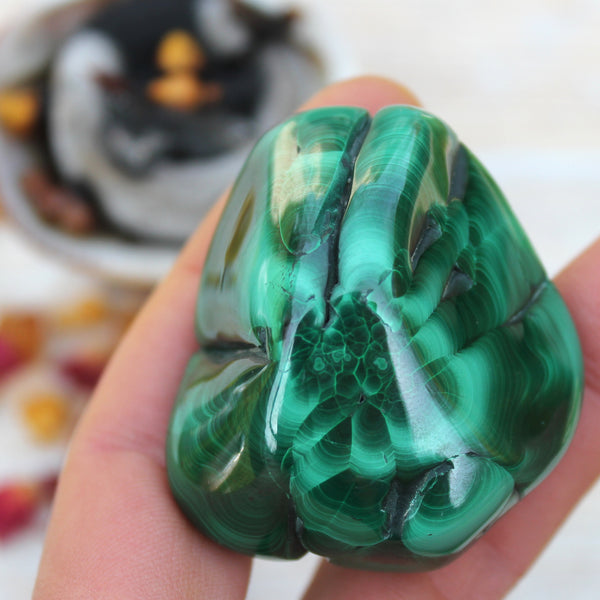 Multiple Eye Malachite Chunk