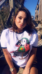 Lady Loud Rasta Panda tee