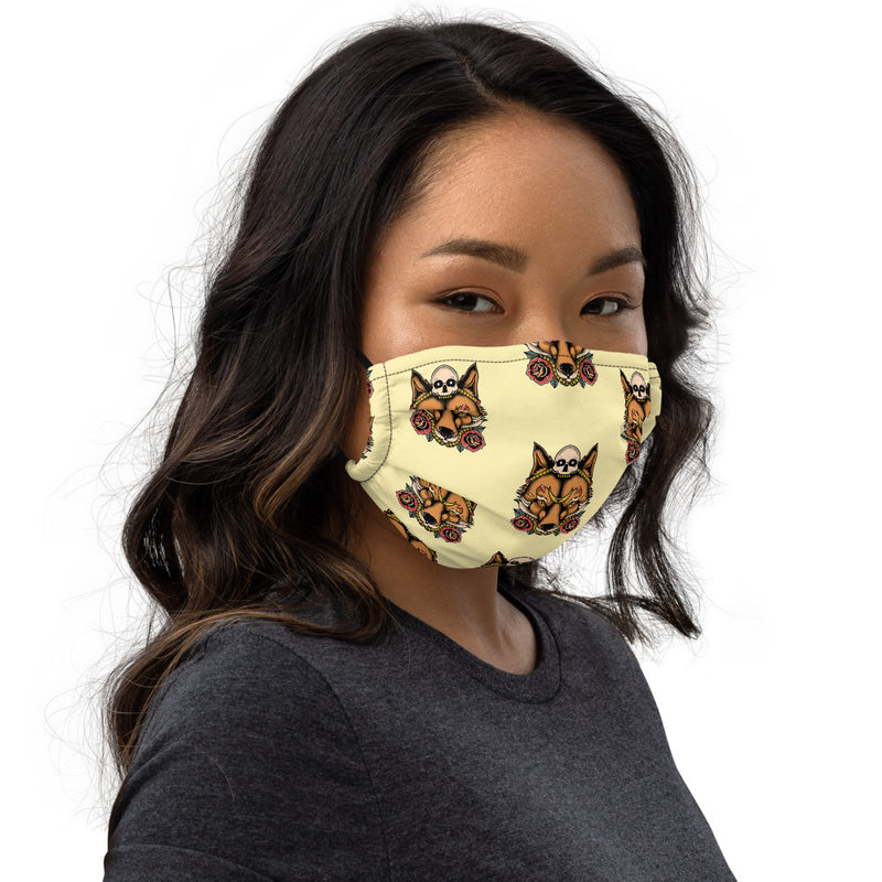 Skull Fox Patten Face Mask