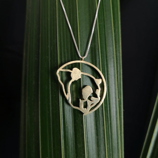 Classic Panda Pendent With Silver Chain-Jewellery-Street Panda Clothing