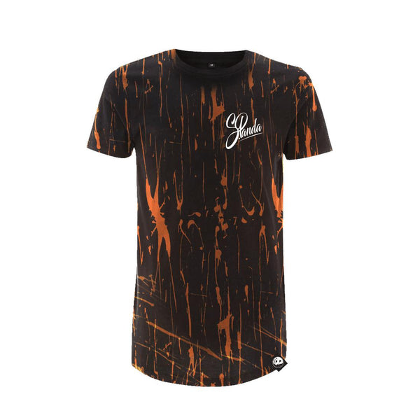 Custom Anniversary Signature Acid Wash Long Tee-uni sex T shirt-Street Panda Clothing