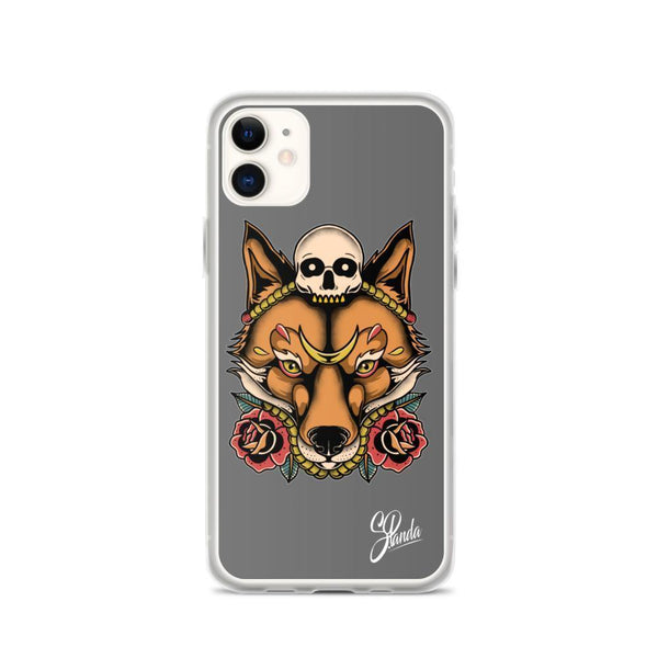 Skull Fox iPhone Cases ( Various Sizes )-iphone case-Street Panda Clothing