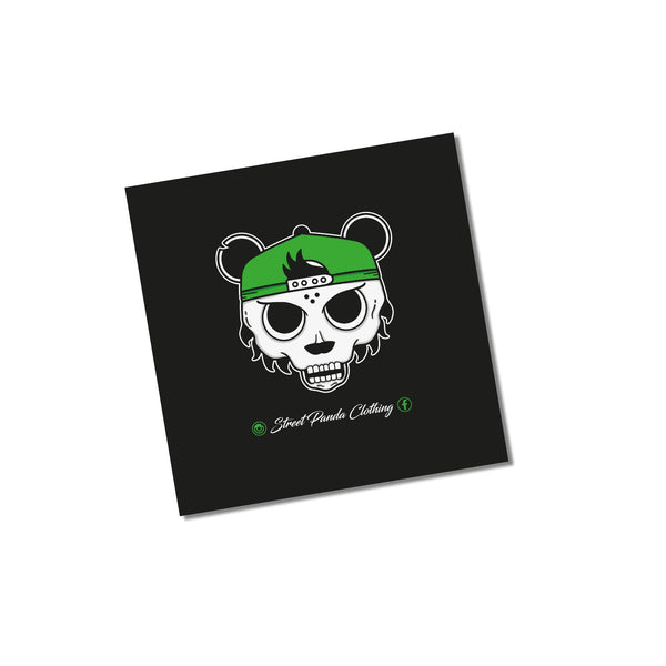 Skull Panda Window Stickers-Sticker-Street Panda Clothing