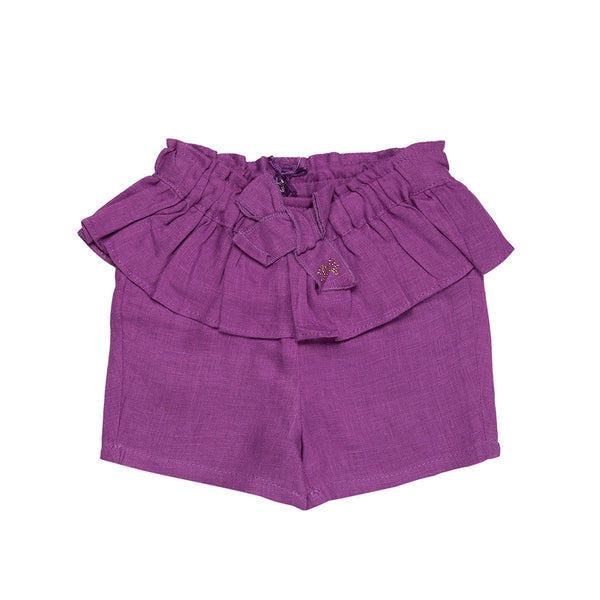 Purple Linen Shorts - 3030BB92203