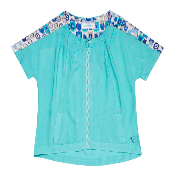 Turquoise Tracksuit Top - 3030ROR4405