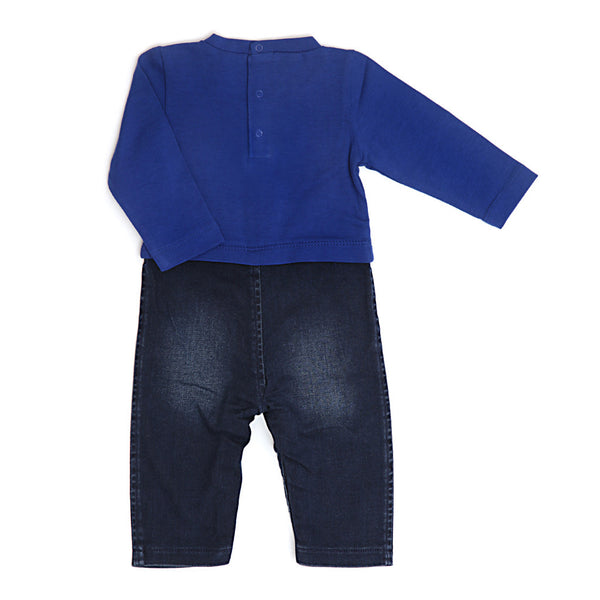 Denim Babysuit with Apron-3232BBG1802