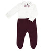 Smart Burgundy Babysuit-3232BBG1817