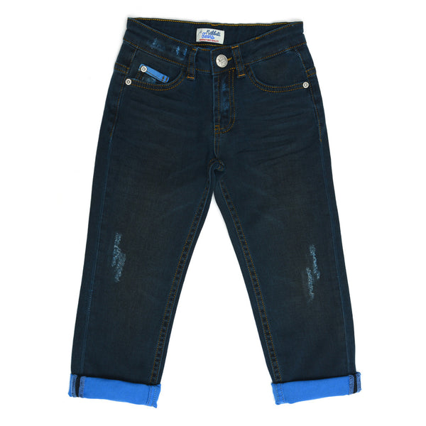 Faded Dark Blue Jeans -3232NBN3203