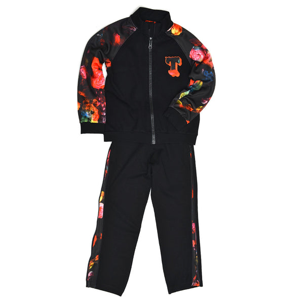 Tracksuit Top With Flower Prints-3232TJT4401