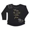 Black Sweatshirt With Sequines-3232TJT4415
