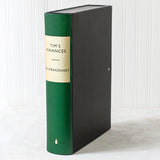 Green Modern Hardback Book File