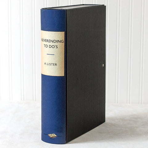 Blue Modern Hardback Book File