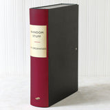 Cherry Red Modern Hardback Book File