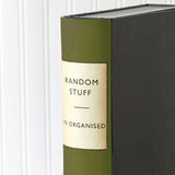 Olive Green Modern Hardback Book File
