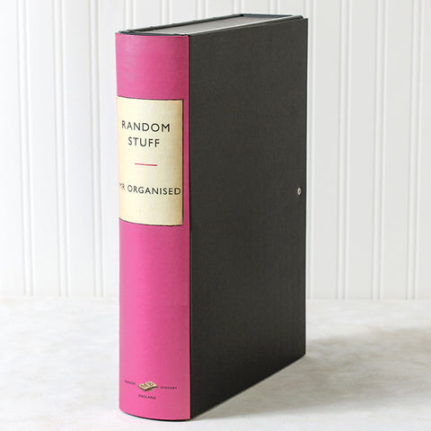 Pink Modern Hardback Book Themed File