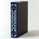 Navy Modern Hardback Book File