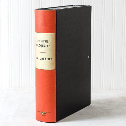 Orange Modern Hardback Book File