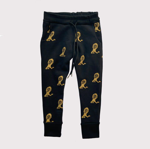 Gold Guardian Print Sweatpants